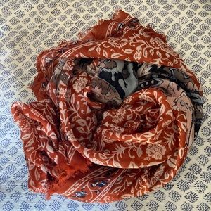 Madewell floral lightweight blanket scarf